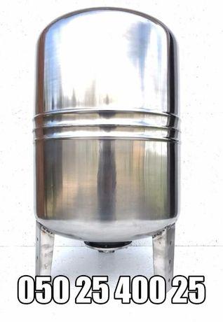 Гидроаккумулятор из нержавейки вертикальный 100 л.