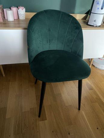 Welurowe krzesło butelkowa zielen ! Stan idealny !