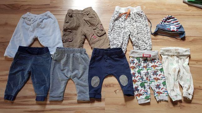 Spodnie, zestaw dla chłopca rozmiar 68, czapka