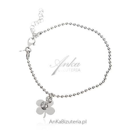 ankabizuteria.pl Bransoletka srebrna Biżuteria damska
