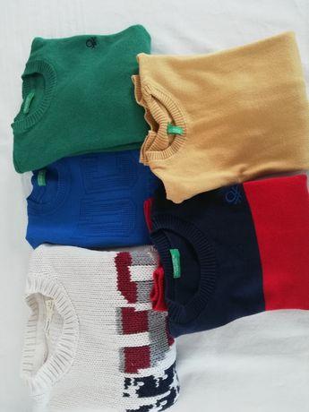 5 camisolas beneton tamanhon3-4anos