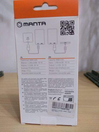 Power bank MANTA 4000mAh MPB002 WHITE