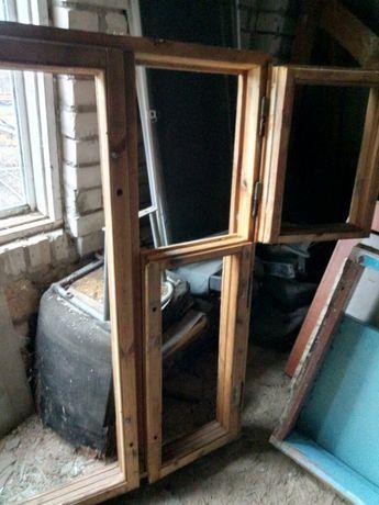 Окно с рамой без стёкол