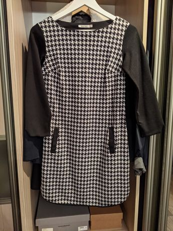 Платье женское чёрно-белое