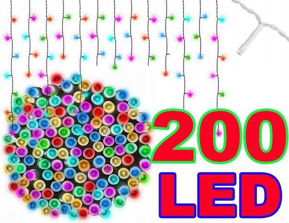 SOPLE Zewnętrzne Lampki Święta 200 LED Multikolor