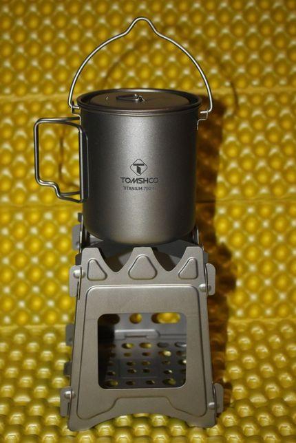 Титановая печка на дрова щепочница из титана. Титанова щепочниця 208 г