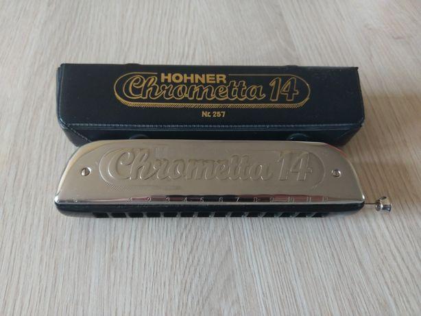 Hohner Chrometta 14 257/56 C 3,5 3 1/2 oktawy harmonijka chromatyczna