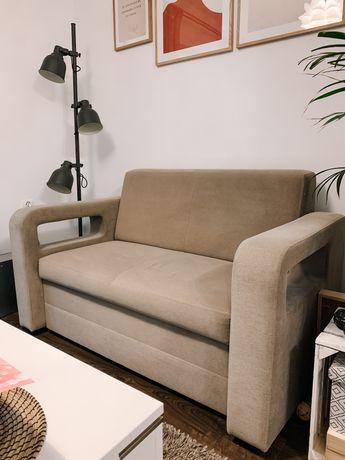 Sofa stan idealny gratis dwie pufy do kompletu
