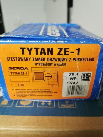 Zamek nawierzchniowy GERDA Tytan ZE-1 atestowany z alarmem brąz do dr