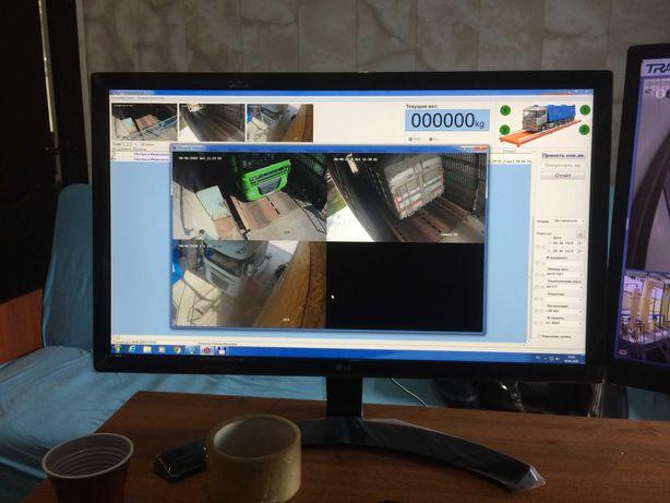 Комплект оборудования для взвешивания автомобилей и учет грузооборота.