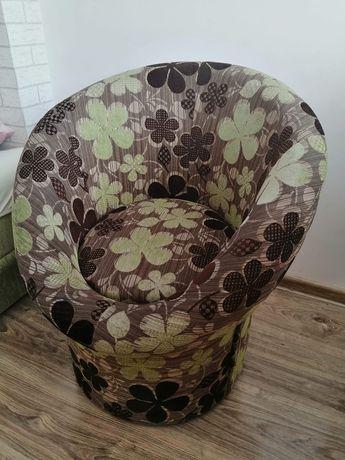 Fotel z zielonym akcentem