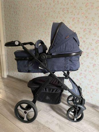 Детская коляска трансформер JOY 8683 Синий (Джинс) (IG - 67405)