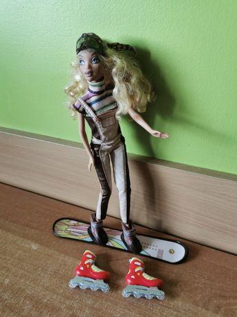 Barbie na snowboardzie + rolki