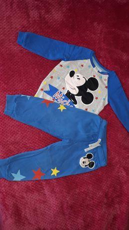 Dres chłopięcy Mickey szaro-niebieski r.92
