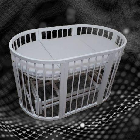 Круглая /овальная детская кроватка-трансформер 8 в 1 (аналог Stokke)
