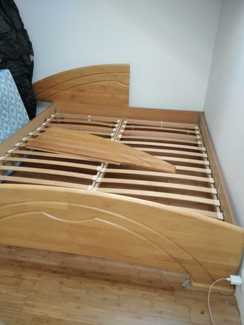 Łóżko podwójne, szafki nocne 180x200 buk