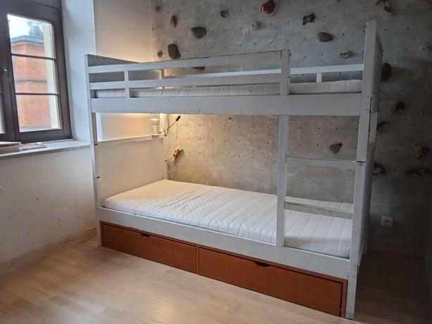 Łózko piętrowe + materace + szuflady