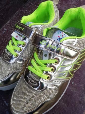 Светящиеся кроссовки с USB-зарядкой