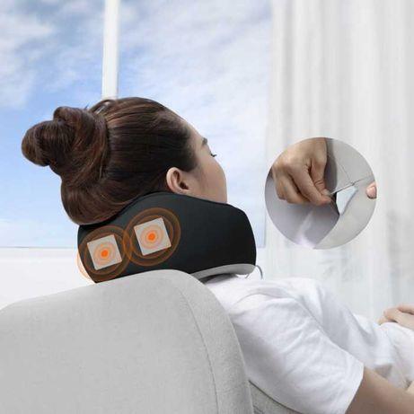 Массажная подушка U-Shaped с вибрацией и функцией памяти от батареек
