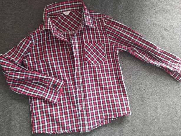 Koszula czerwona kratka 104