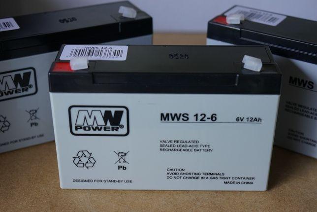 6V 12Ah żelowy akumulator nowy