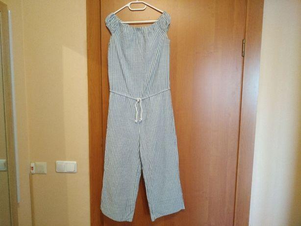 Комбинезон женский в пижамном стиле в полоску на лето хлопок размер M