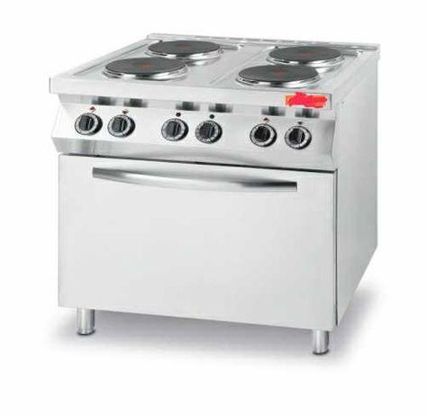 Kuchnia elektryczna 4-palnikowa z konwekcyjnym piekarnikiem