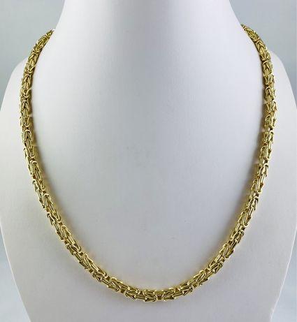 Złoty Męski Łańcuch Splot Królewski 34,6g Pr.585 NOWY!