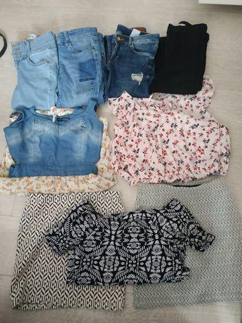 Mega zestaw ubrań damskich/dziewczęcych