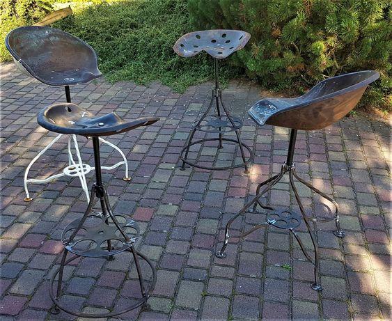 Krzesła metalowe ogrodowe, barowe  kuchenne, Hoker loft industrialny
