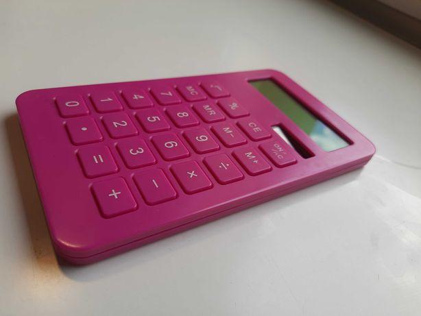 Kalkulator prosty różowy