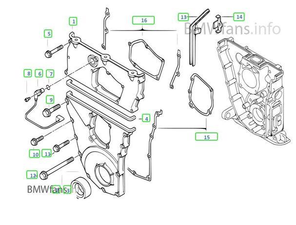 BMW E30 E36 Z3 Junta perfilada tampas de distribuição