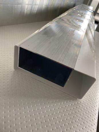 Труба алюминиевая 100х50х2 мм, длина 1 м., алюминиевый профиль, 3 штук