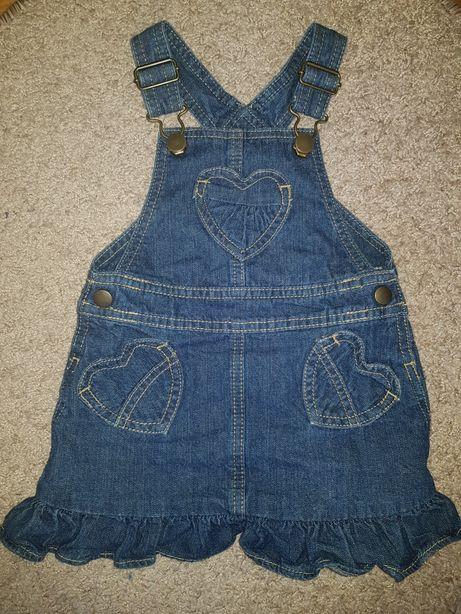 George jeansowa sukienka ogrodniczka 86
