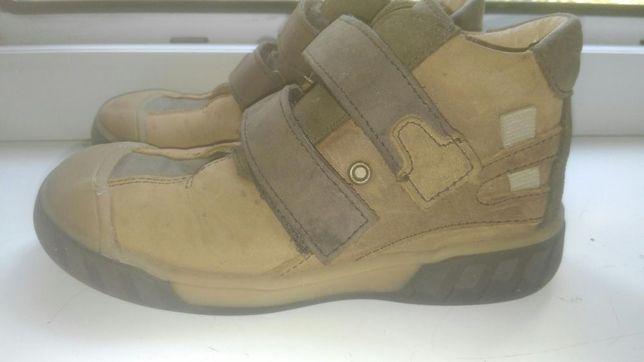 Кожаные ботинки-25р.