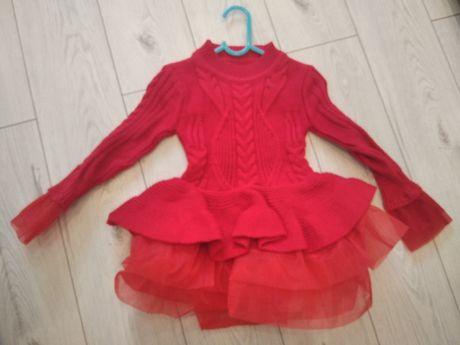 Sukienka czerwona tiul tutu 100/104