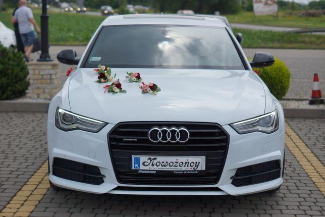 Auto do ślubu i nie tylko. Białe Audi A6 S-line Black Edition