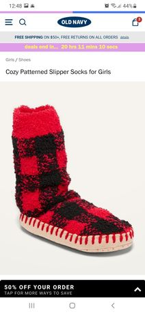 Носки-тапочки, носки с подошвой Old Navy для девочки