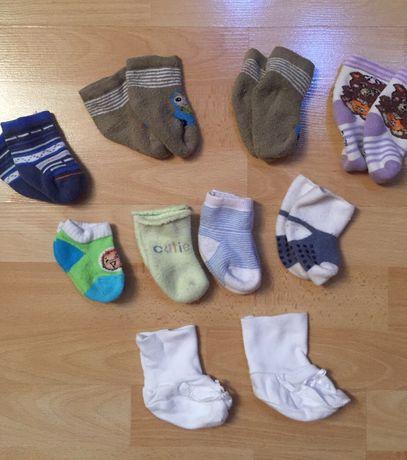 Носочки тёплые все за 25 грн, махровые носочки на 0-12 мес
