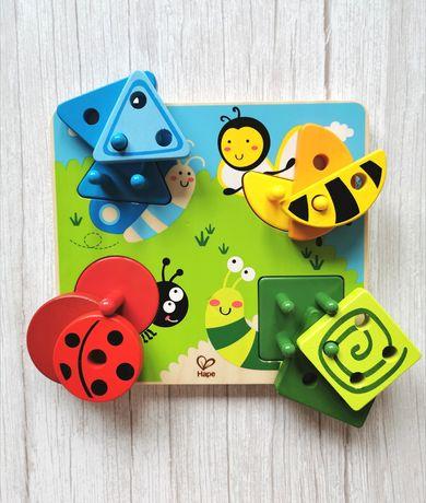 Hape Robaczki - drewniana Układanka edukacyjna kolory i kształty