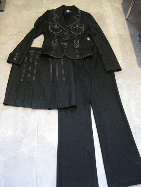 komplet trzyczęściowy (żakiet, spodnie, spódnica)