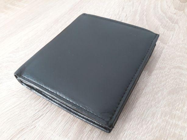 Portfel męski skórzany czarny