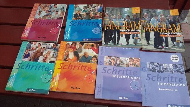 4ksiazki do nauki niemieckiego TANGRAM, SCHRITTE