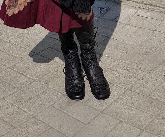 Сапог чулок  на шнуровке
