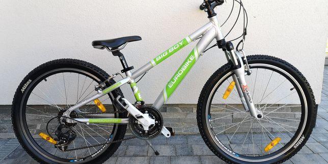 Aluminiowy rower Eurobike Big Boy dla dziecka ok 6-9 lat koła 24