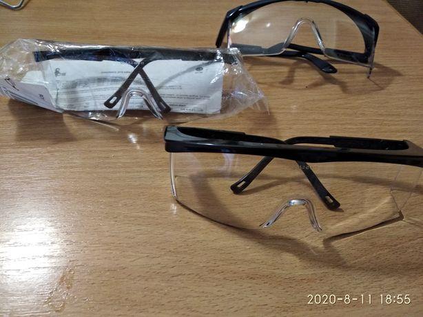 Очки защитные ™ CXS прозрачные.Для велосипеда или строителей.Чехия.3-е