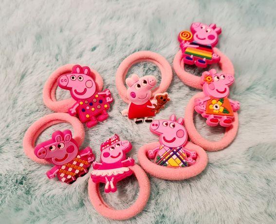 Świnka Peppa gumka do włosów dla dziewczynki różne wzory