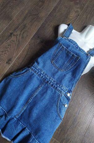 Сарафан джинсовый женский из Англии платье комбинезон бу
