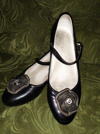 Туфли, черные, натуральная кожа.