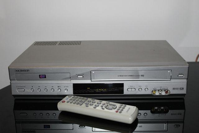 SAMSUNG Odtwarzacz magnetowid kaset video VHS i płyt dvd pilot Wysyłka
